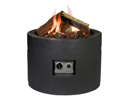 Feuertisch rund, schwarz